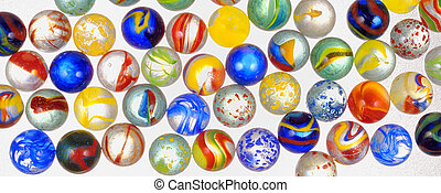 different glass balls