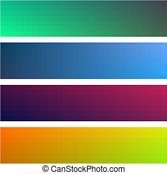 Different gradient color banners