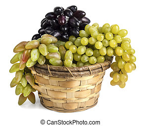 different grape varieties in the basket