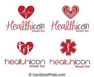 Health icon - different Health icon over white background