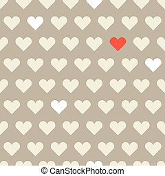 Different hearts shapes seamless pattern. Valentine greeting car