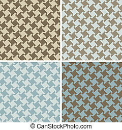 Different Houndstooth_Blue-Brown - An untraditional seamless...