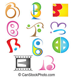 Different Icon with alphabet b