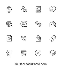 Different icons pack for webdesign or mobile design.