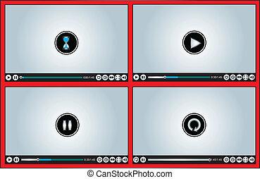 different illustration Video Player