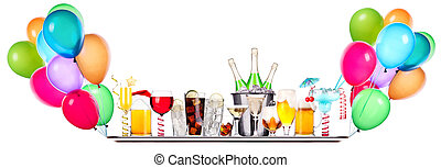 different images of alcohol on a tray - alcohol set on a...