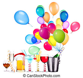 different images of alcohol with balloons - alcohol drinks...