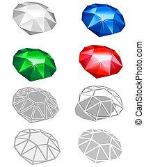 Different jewels - Different illustrated jewels