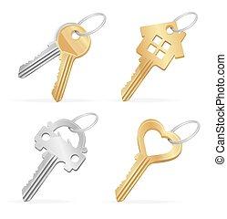Different Keys Set. Vector