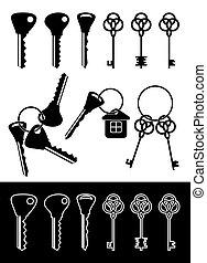 Different keys.