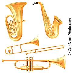 Different kind of classical instruments
