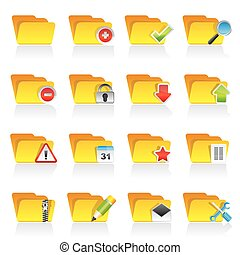 Different kind of folder icons