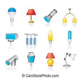 lighting equipment - different kind of lighting equipment -...