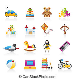 different kind of toys icons