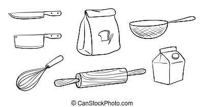 Different kinds of baking tools