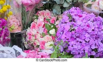 different kinds of flowers in bouquets