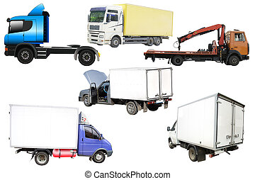 lorries - Different kinds of lorries under the white ...