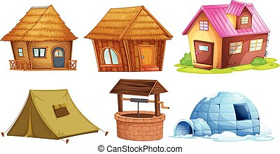 Different kinds of shelters