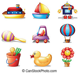 Different kinds of toys - Illustration of the different...
