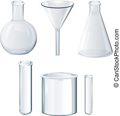 Different laboratory equipments - Illustration of the...