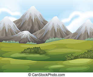 Different landforms - Illustration of the different...