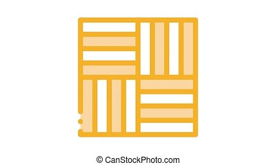 different linoleum tile deanimated icon on white background