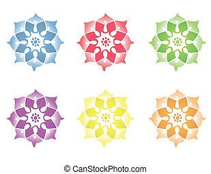 Mandala Flower - Different Mandala Flowers. Vector file...