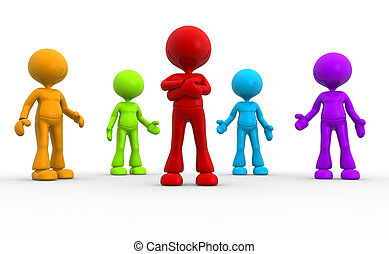 Different men - 3d people - men, person in group. Different...