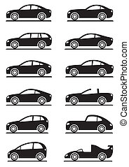 Different modern cars