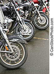 motorcycles on parking - different motorcycles on parking on...