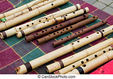 different musical flute