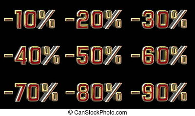 Different Numbers With Percentage Discount