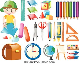 Different objects for school