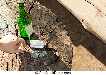 Different objects, symbols of addictive habits