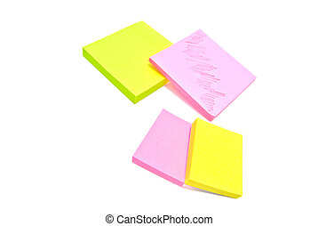 different office sticky notes