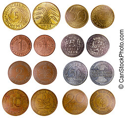 different old germany coins