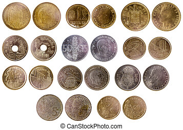 different old spanish coins