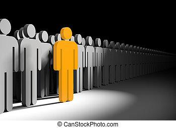 Different people. Businesss metaphor