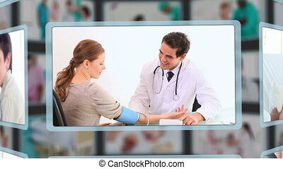 Different people having medical tro - Animation of different...