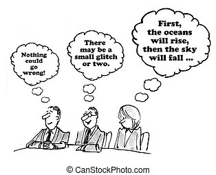 Different Perspectives - Business cartoon about different...