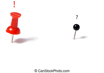 Different point of view - Two post it pins.... with a ...