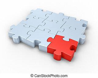 Different Puzzle - Jigsaw puzzle concept.