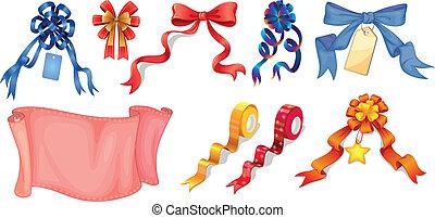 Different ribbon designs