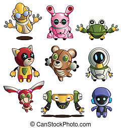 Different robot icons