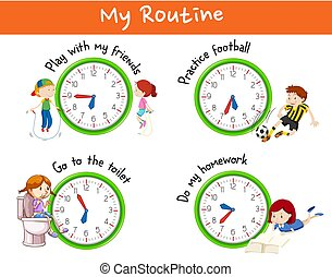 Different routines for children