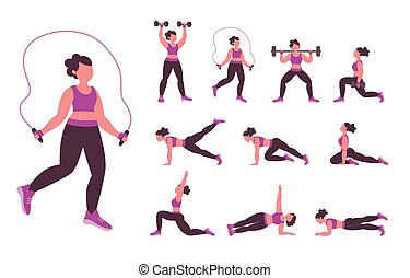 Different samples for doing exercise at home