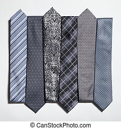 different set of luxury tie on white background