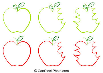 Different shape of Apple