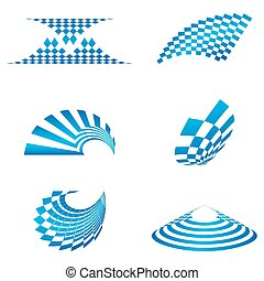different shapes of logo - illustration of different shapes...