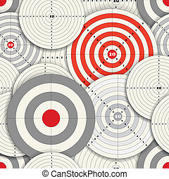 different sizes targets - Seamless background of different...